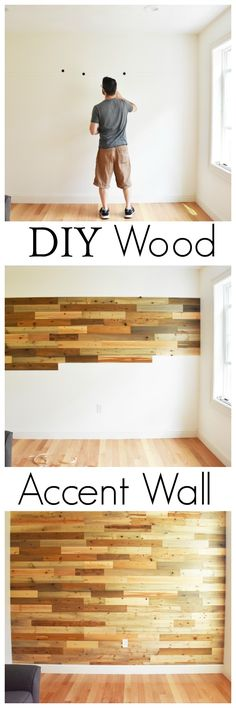 DIY Wood Accent Wall using reclaimed river wood planks from Timberchic! Create a warm and unique environment in your home with Timberchic Reclaimed River Wood Boards! AD via @savvysavingcoup @Timberchic