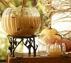 Tree Punch Bowl Stand/Pumpkin Punch Bowl