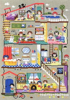 Buy Little House Chart Booklet Online at www.sewandso.co.uk