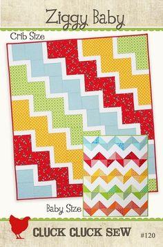 Ziggy Baby Chevron quilt pattern. I love chevron! Must make this!