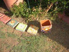 2010 Garden border stones and planter