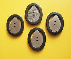 Vintage resin buttons Late Deco a set of 4 by TheLadyatSkiers