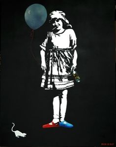 a series of works by the Parisian born - French artist, Blek Le Rat, real name Xavier Prou