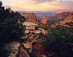 Sunset in the Grand Valley. Colorado National Monument. Grand Junction, CO. #shareGJ