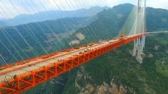 Китай бьёт рекорды: достроен самый высокий в мире вантовый мост (видео)