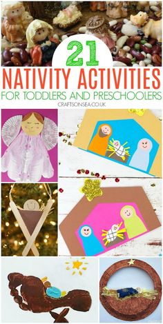 easy nativity crafts and activities for toddlers and preschoolers Christmas Activities For Toddlers, Fun Activities For Preschoolers, Advent Activities, Christmas Crafts For Toddlers, Christmas Crafts For Kids, Toddler Activities, Toddler Preschool, Toddler Crafts, Preschool Crafts