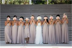 LOVE the bridesmaid dresses