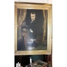 Dipinto olio su tela - ritratto bambino - C. V. Cantagalli - 1880