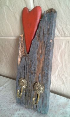 recycled wood, keyholder