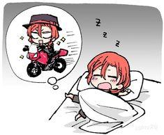 Aww.. Chuuya, we know you love the bike so much