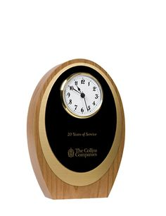 Our FSC®-certified cherry Coba Clock is the perfect piece to commemorate service, retirement, or other milestones.