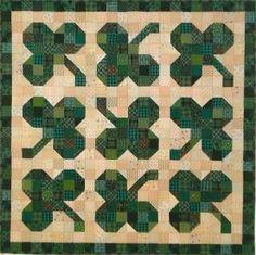 Shamrocks Quilt Pattern SP-108e (instant download) by iris-flower