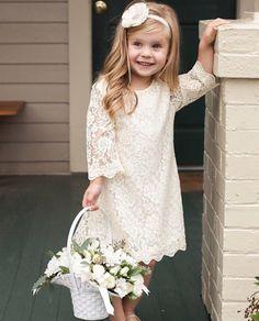 Wedding Ideas by Colour: Cream Little Bridesmaid Dresses | CHWV