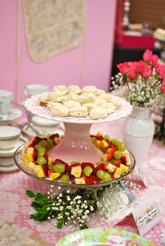 Tea party idea - two stacked cake plates