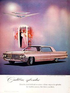 1962 Cadillac Coupe de Ville vintage ad. Cadillac Splendor.