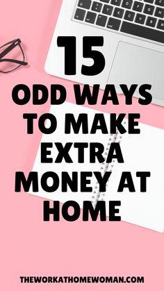 Cash From Home, Earn Money From Home, Earn Money Online, Online Jobs, Ways To Earn Money, Way To Make Money, How To Make, Legit Work From Home, Work From Home Jobs