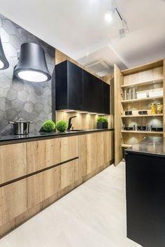 Simple Kitchen Design, Kitchen Room Design, Kitchen Cabinet Design, Home Decor Kitchen, Interior Design Kitchen, Loft Kitchen, Modern Kitchen Cabinets, Living Room Kitchen, Straight Kitchen
