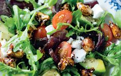 Biltong and spicy nut salad. One for the dads, as biltong is a must. #recipe #biltong #salad