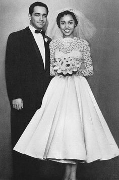 Diahann Carroll on her wedding day to Monte Kay, 1956