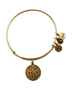 For me for Blake...Alex and Ani New York Mets Cap Logo Expandable Wire Bangle