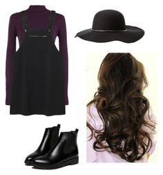 """""""Black and purple ⚫️"""" by chloe-ashforth on Polyvore featuring WearAll, Monki and Charlotte Russe"""