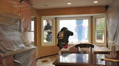 Picture Window Installation in a beautiful kitchen on Long Island in New York. Timelapse shows whole job in under 2 minutes! ~ from Renewal by Andersen