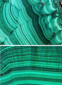 The mineral malachite is actually a copper hydroxyl carbonate that crystalizes to create a rich green color. It's been used throughout history for decorative objects, detailing in furniture and, in some higher-end pieces, as a primary building or surfacing material.Faux Malachite Wall Decals (I'd love to use these on an inexpensive tray or tabletop for a makeover), $33.99 each