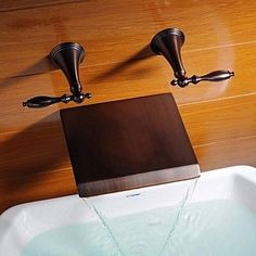 Brass Tub Tap with Hand Shower - Chrome Finish