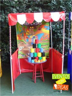 JUEGO Carnival Decorations, Diy Carnival, Circus Carnival Party, Circus Birthday, Carnival Games, Family Day Games, Family Picnic Games, 50th Party, Birthday Parties