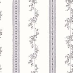 Drottningholm Grey Floral Stripe Brewster Wallpaper Wallpaper Brewster Grays Whites Country Wallpaper Eco-friendly Wallpaper Floral & Plants Wallpaper Stripes Wallpaper , Non Woven Blend, Easy to clean , Easy to wash, Easy to strip Plant Wallpaper, Brick Wallpaper, Wallpaper Roll, Peel And Stick Wallpaper, Classic Wallpaper, Wallpaper Online, Wallpaper Samples, Motif Floral, Floral Stripe