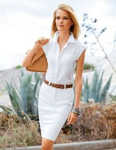 dressed for success ~ white business attire