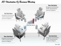 1813 3D Illustration of Business Meeting Ppt Graphics Icons Powerpoint #Powerpoint #Templates #Infographics
