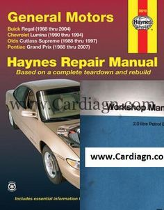 Free download general motors haynes repair manual covering fwd buick regal chevrolet lumina olds cutlass haynes repair manual fandeluxe