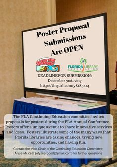 Poster PRoposal Submissions are OPEN! #FLACON2018