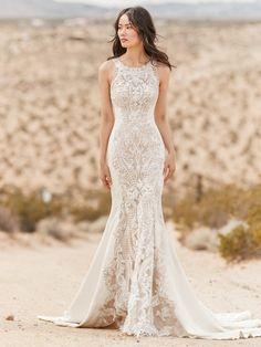 a9d06d2597e0 A sexy and sophisticated halter neck wedding dress. #halterneckweddingdress  #bodyconweddingdress Sottero Midgley,