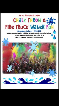 Salina 4th of July Chalk Throw and Fire Truck Fun