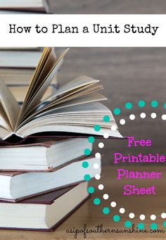 How to plan a unit study- with FREE Printable. The how-to tips are worth re-reading but the printable is just not practical for me. Curriculum Mapping, Curriculum Planning, Homeschool Curriculum, Homeschooling, Study Planner, Unit Plan, Free Printables, The Unit, How To Plan