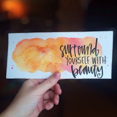 Surround Yourself With Beauty Print by HuesOfGrace on Etsy