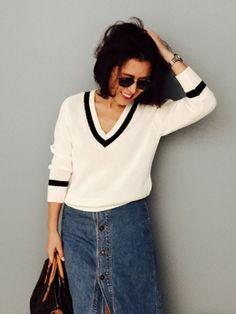 【ELLE SHOP】「mi-mollet(ミモレ)」編集長・大草直子がピックアップ! 夏まで活躍してくれる着回し力抜群の万能ニット|ファッション通販 エル・ショップ