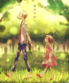 Hotarubi no mori e - this anime broke my heart in so many ways I can't even ;(