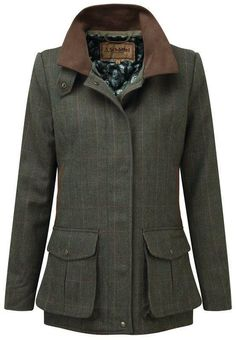 8d65600342c Joules Field Coat Womens Semi-Fitted Tweed