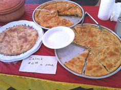 Macedonian Zelnik [with spinach, feta and bacon. Dough: only 5 small spoons of cooking oil per 1kg flour. Baked]