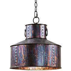 """Uttermost Albiano Giaveno 14"""" Wide Oxidized Bronze Pendant"""
