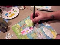 Mixed Media Art Journal Page, Start to Finish - YouTube