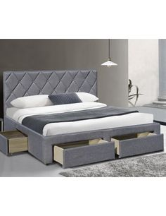 Manželské čalúnené postele s roštom s úložným priestorom cm Str. Design Case, Bed Design, House Design, Room Design Bedroom, Bedroom Bed, Dormitory, My Dream Home, Interior Design, Furniture