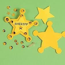 wild west crafts for kids - Sheriff badge Daycare Crafts, Toddler Crafts, Preschool Crafts, Crafts For Kids, Western Crafts Kids, Cowboy Theme, Western Theme, Cowboy And Cowgirl, Cowboy Party