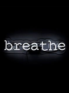 Oliver Gal 'Breathe' Neon Sign - 22 x 5 (Size), White(Acrylic) Black Aesthetic Wallpaper, Black And White Aesthetic, Aesthetic Colors, Aesthetic Collage, Aesthetic Pictures, Black And White Picture Wall, Black And White Wallpaper, Black And White Pictures, Black And White Words