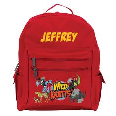 Wild Kratts Creature Adventure Red Youth Backpack from PBS Kids Shop