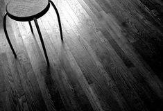 black stained floor