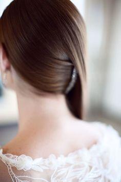 Gorgeous modern hair style #wedding #hairstyle #brides
